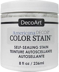 DecoArt 8ozWhite Americana Decor Color Stain 8oz White