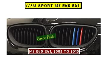 Kool Parts: 3D 3 Colors Kidney Grille Plastic Clips for Sport Cars E 60 2004, 2005, 2006, 2007, 2008, 2009, 2010: Amazon.es: Coche y moto
