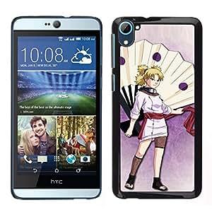 Caucho caso de Shell duro de la cubierta de accesorios de protección BY RAYDREAMMM - HTC Desire D826 - Linda chica japonesa del guerrero