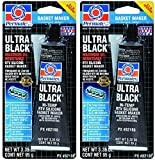 Automotive : Permatex 82180 Ultra Black Maximum Oil Resistance RTV Silicone Gasket Maker, 3.35 oz. Tube, 2 Pack