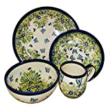 Polish Pottery UNIKAT Dinner Set 4 Pieces Place Setting Serenity with bowl