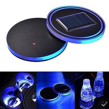 Universal Creative LED Car Coasters USB Cup Holder Charging Bottle Bar Pad Mat