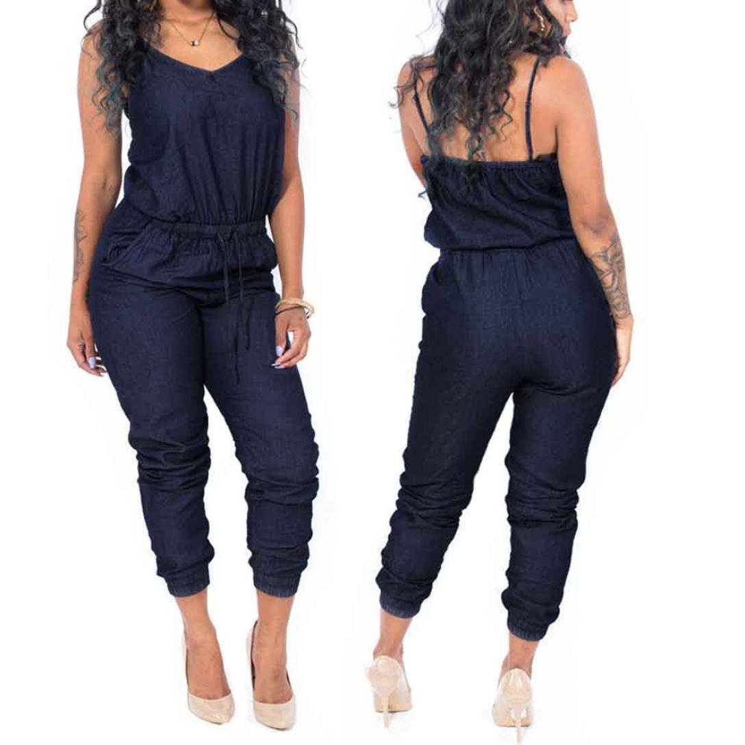 Women Jumpsuit Pant,SMTSMT One Piece Women Camisole Jumpsuit Pants (XL) by SMTSMT