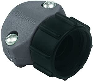 Gilmour 01F Female End Garden Hose Repair Coupler, Use with 5/8 or 3/4 inch Hoses - 5 Pack.