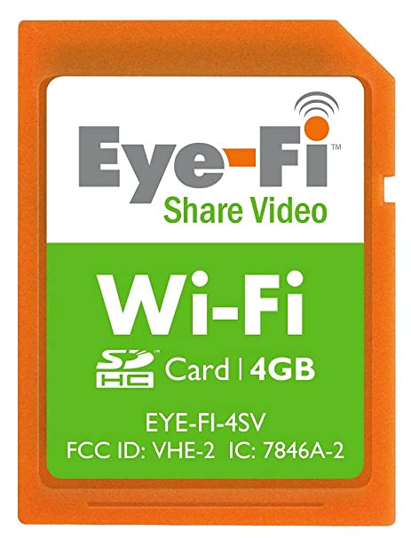Amazon.com: Eye-Fi 4 GB Compartir SDHC de video inalámbrico ...