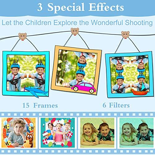 AILEHO Kids Camera for Boy Blue Bear Cartoon Birthday Children Toy Toddler Camera 3-10 Year Old Starter Kids Digital Camera 8M 1080P with 8G Card Kids Game Camera IPS 2.0\