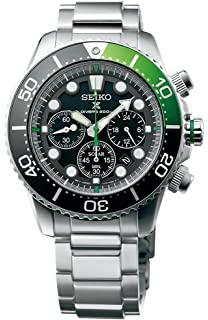SEIKO Prospex Sea Divers 200m Chronograph Solar Sports Watch Green SSC615P1