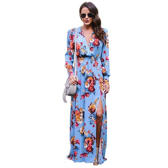 Yesmile Vestido de Mujer Vestido Largo Vestido de Estampado Vestido Elegante de Noche para Boda Vestido