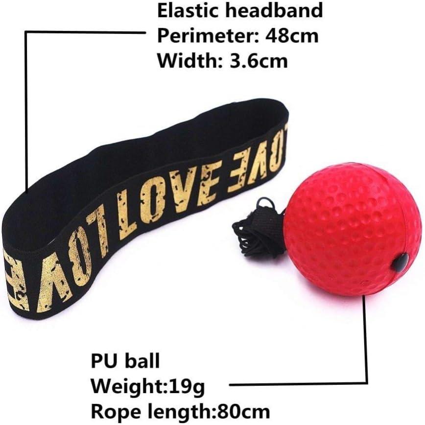 Sport-Boxschlag-/Übungsball mit Stirnband f/ür Reaktionsgeschwindigkeitstraining f/ür Erwachsene//Kinder BEARCOLO Tragbarer Box-Reflexball