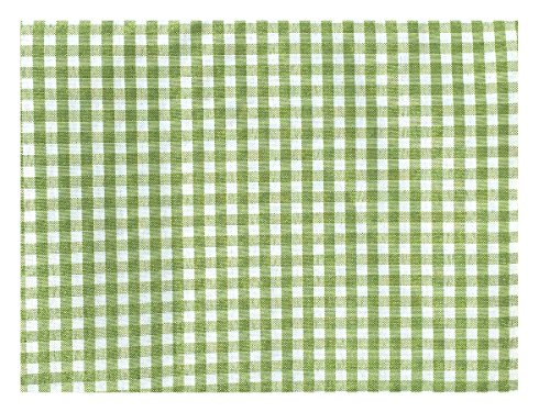 Official Picnic Tablecloth - Mini Gingham Check, Ideal as Outdoor Tablecloths, 100% Polyester ( Multiple Colors) (54 X 70, GREEN & WHITE) - Mini Check Tablecloth