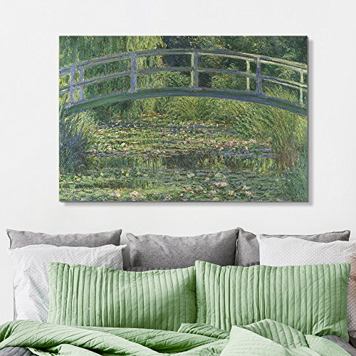 Famous Painting of The Water Lily Pond Under a Bridgeby Claude Monet