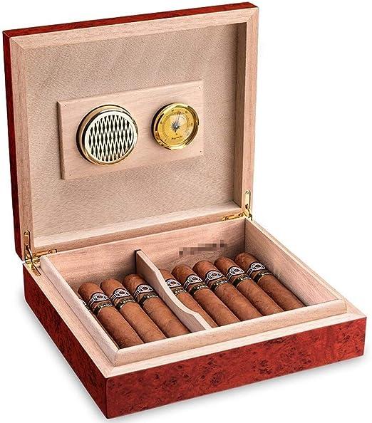 ZXL Caja de Puros, humidor Caja de Puros Humidor de cigarros portátil Caja de Puros Caja de Puros de Madera de Cedro importada: Amazon.es: Hogar