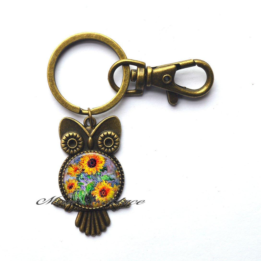 Amazon.com: Encanto búho llavero, llavero de búho, diseño de ...