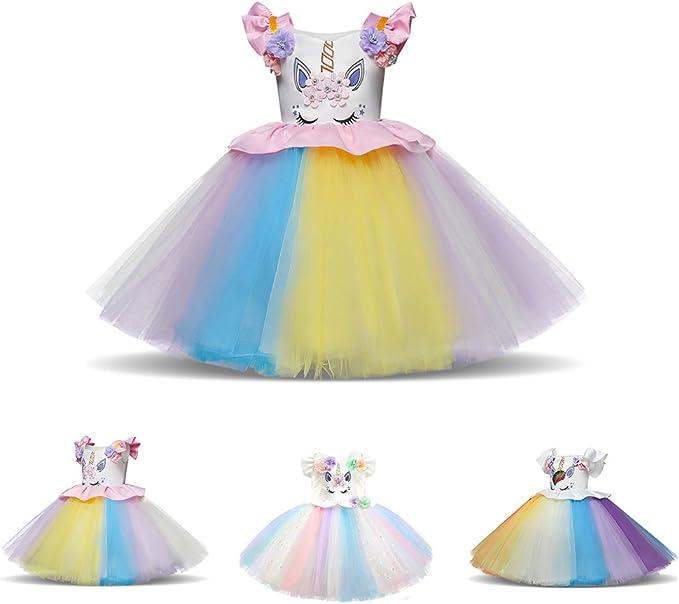 Falda de tutú de unicornio para niñas, disfraz de princesa sin ...