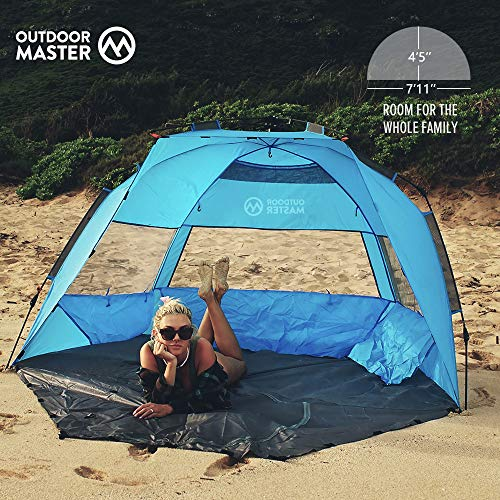Outdoormaster Pop Up Beach Tent Easy To Set Up Portable