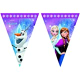 Disney 46784 Frozen Party Decoration Banner Triangle Flag