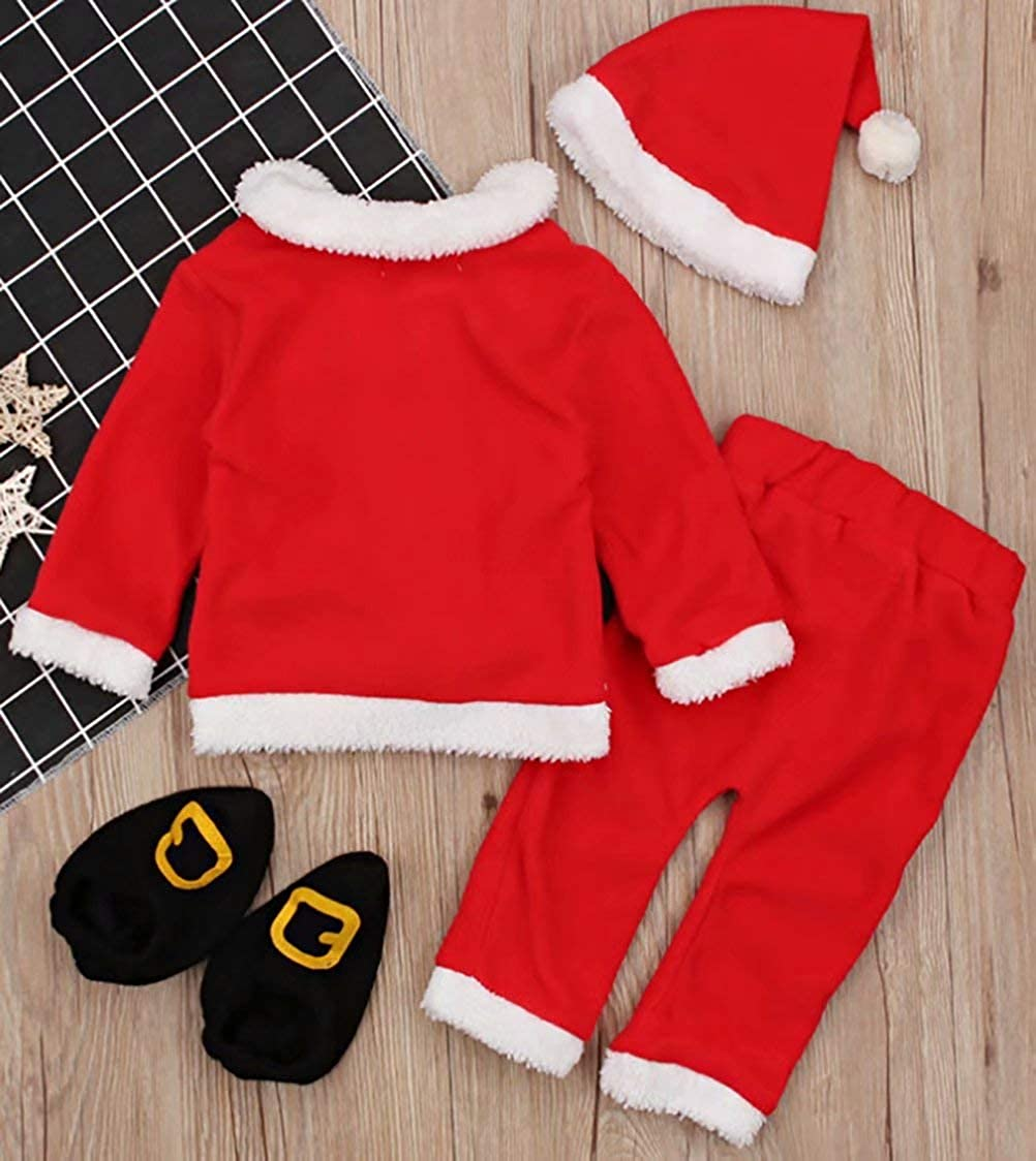 1901e5ad4 Amazon.com  Christmas Costume Baby Clothes Sets Baby Santa Claus ...