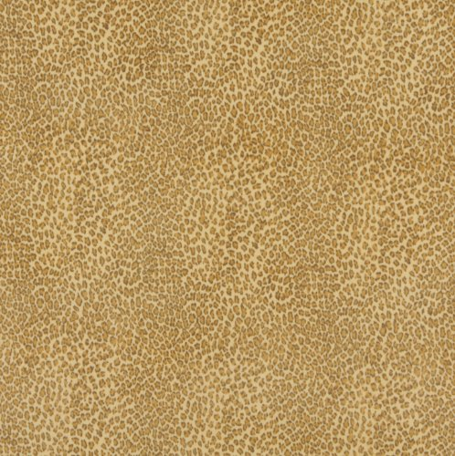 (Buttercup Beige and Gold Leopard Faux Animal Print Microfiber Machine Washable Stain Resistant Upholstery Fabric by the yard)