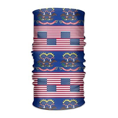 ce4b3b5d2 Unisex Usa North Dakota Flag Multifunctional Bandanas Sweatband Elastic  Turban Headwear Headscarf Beanie Kerchief