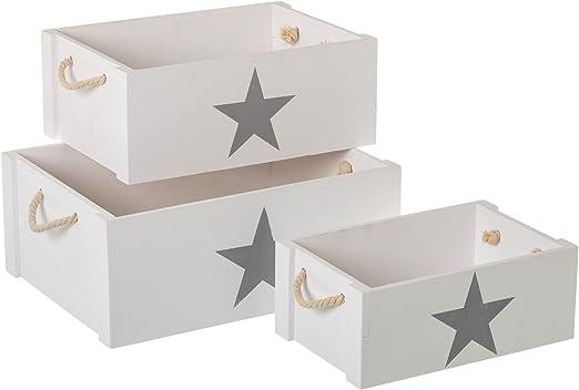 Lola Derek - Cajas Multiusos Infantiles Blancas de Madera para Dormitorio Child: Amazon.es: Hogar