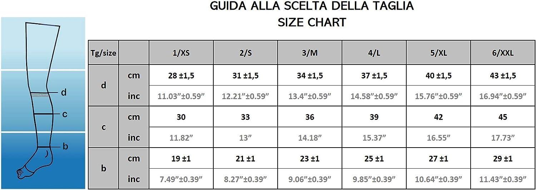 compressione graduata 140 den K1 CzSalus Gambaletto sanitario 1/° classe senza punta