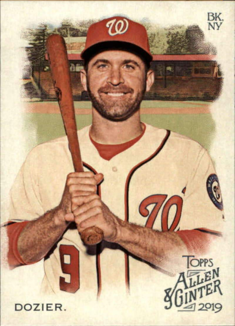 2019 Topps Allen and Ginter Baseball #244 Brian Dozier Nationals