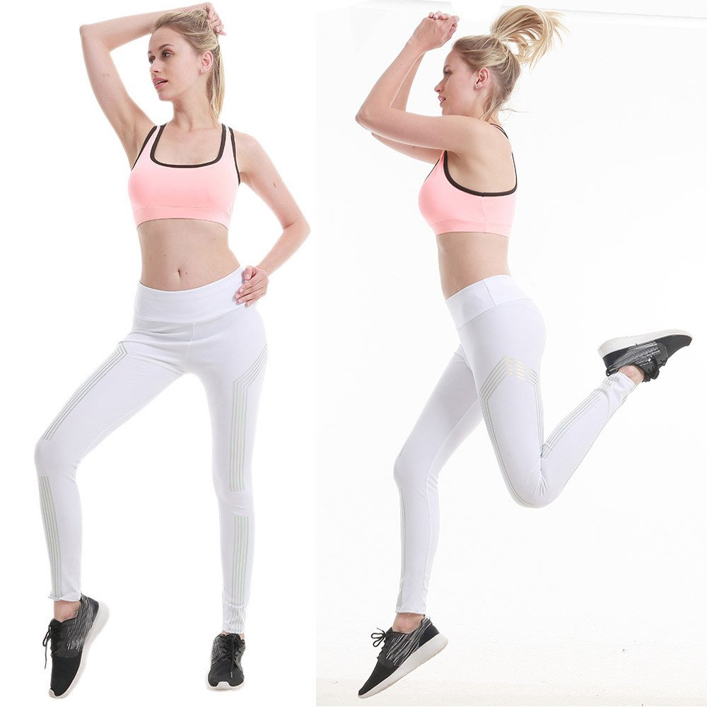 c5171a006576dc Amazon.com: Women High Waist Pants Women Waist Yoga Fitness Leggings  Running Gym Stretch Sports Pants Trousers: Beauty