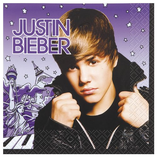 Justin Bieber Lunch Napkins Package of -