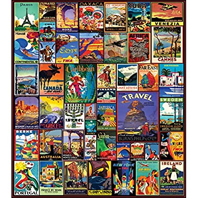 White Mountain Puzzles Travel The World - 550 Piece Jigsaw Puzzle: Toys & Games