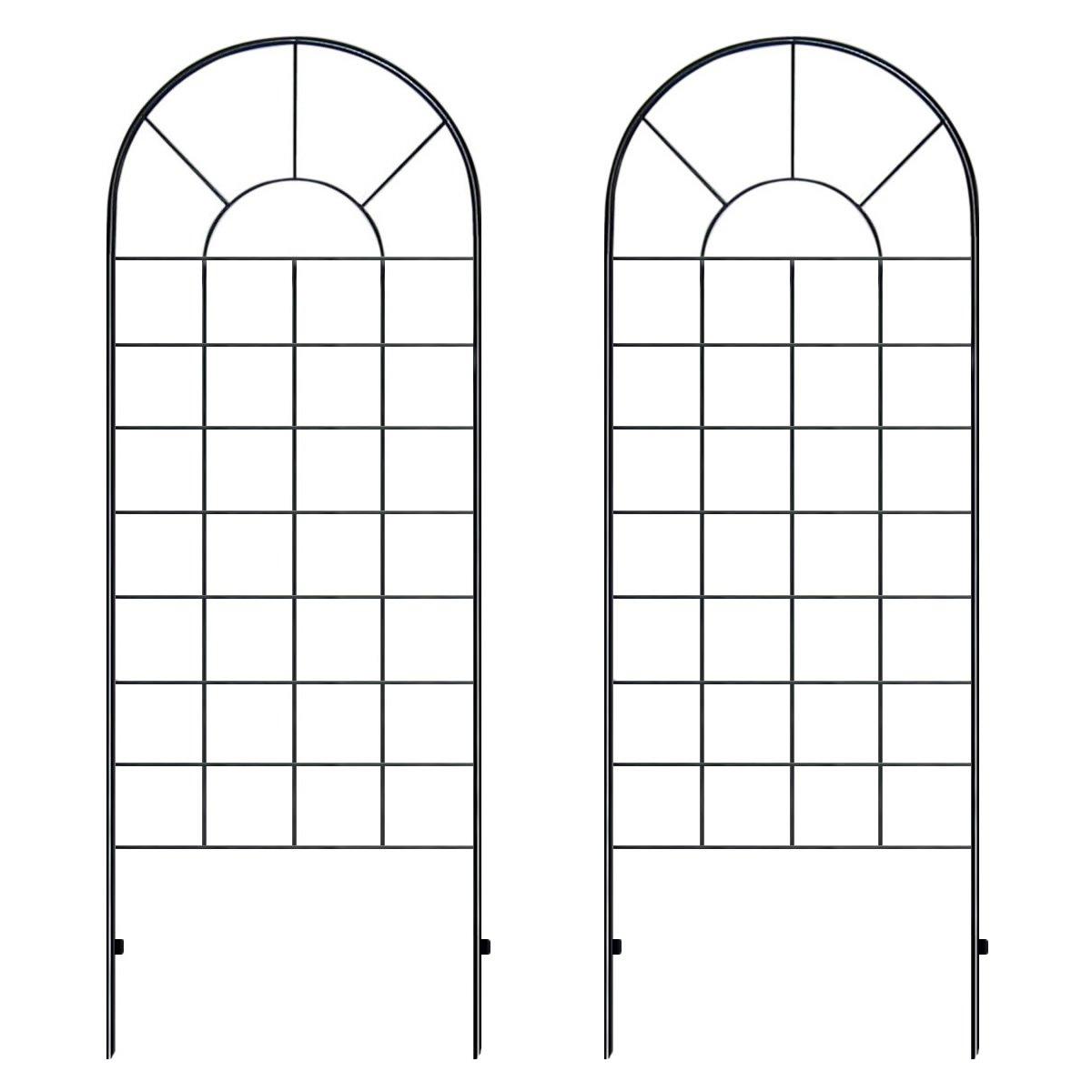 クラシックハイフェンス ハイタイプ(全高220cm) ブラック アイアン 4枚セット YBIF-220-2PX2 B0083QTPDQ 220cm (4枚セット)
