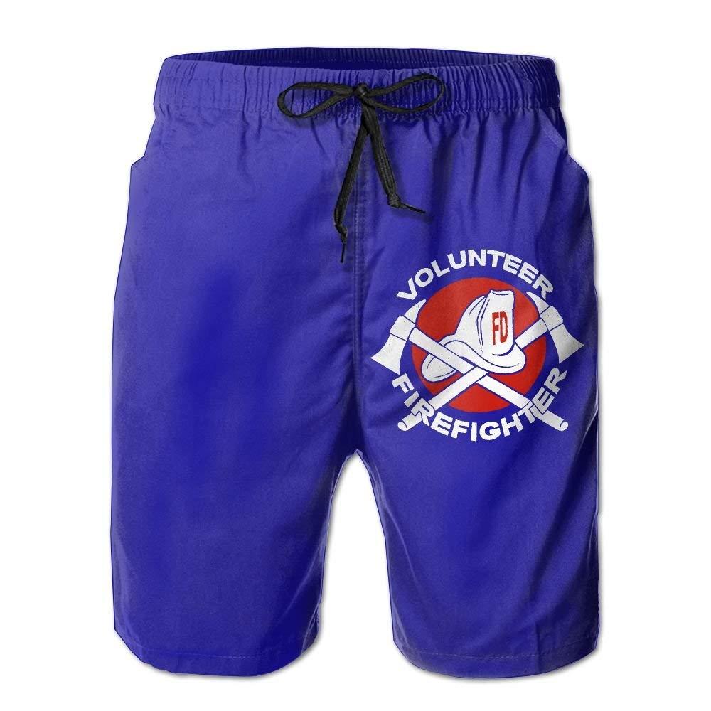 DDYJ Volunteer Firefighter Boardshorts Mens Swimtrunks Fashion Beach Shorts Casual Shorts Beach Shorts