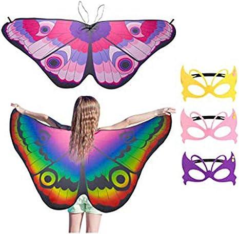 MYT Disfraz de alas de Mariposa para niños para niñas Fiesta de ...
