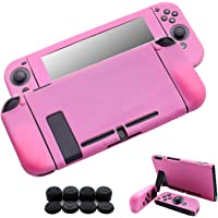 Hikfly 3in1 Ultra Slim Docked PC Cover Case voor Nintendo Switch & Silicone Covers voor Joy-Con Controllers met 8 stks…