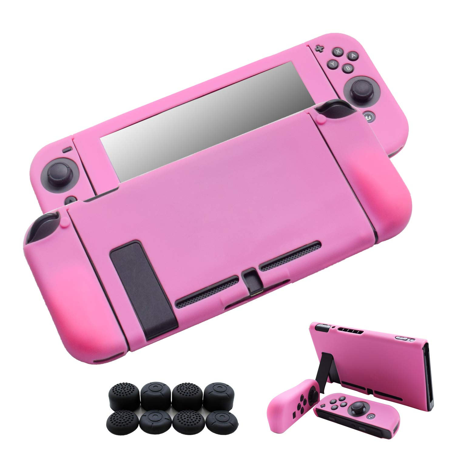 Hikfly Skin Compatible for Nintendo Switch 3pcs Silicone Cover Switch Grips Protector Gel Non-Slip Case Kits for Consoles and Joy-Con Controllers with ...