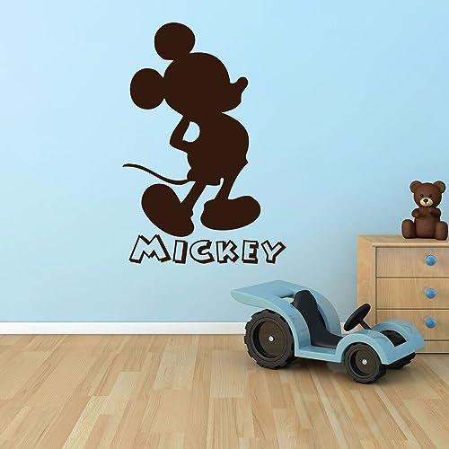 Amazon.com: Mickey Mouse Silhouette Wall Decal - Vinyl Decor, Mickey ...
