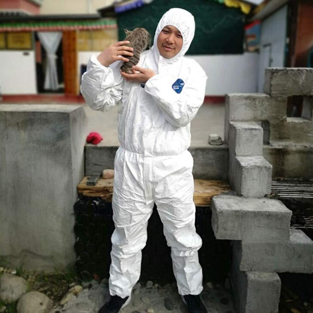 Tuta protettiva generale Tuta da lavoro industriale anti-polvere Tuta da lavoro di protezione in Tyvek Size : M