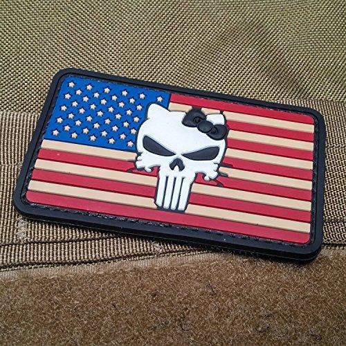 Illinois Monkey (Punisher Kitty American Flag Morale Patch PVC - 1)