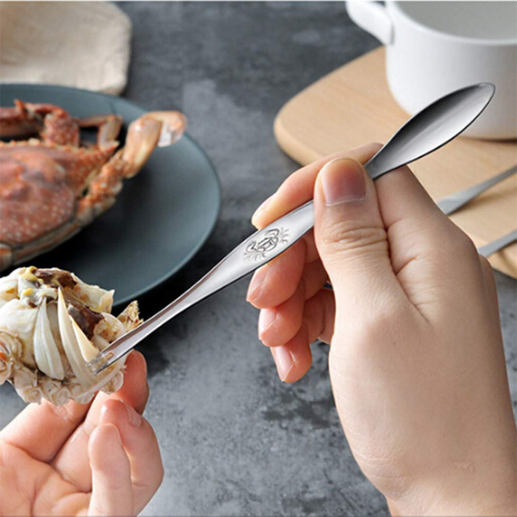 Sevenfly Crab Forks Crab Tools Seafood Forks Seafood Spoon Crab Meedle Liqinstore