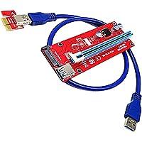 MagiDeal PCI-E PCI Express x16 Extensor Riser Tarjeta Adaptador con Ranura de Alimentación SATA