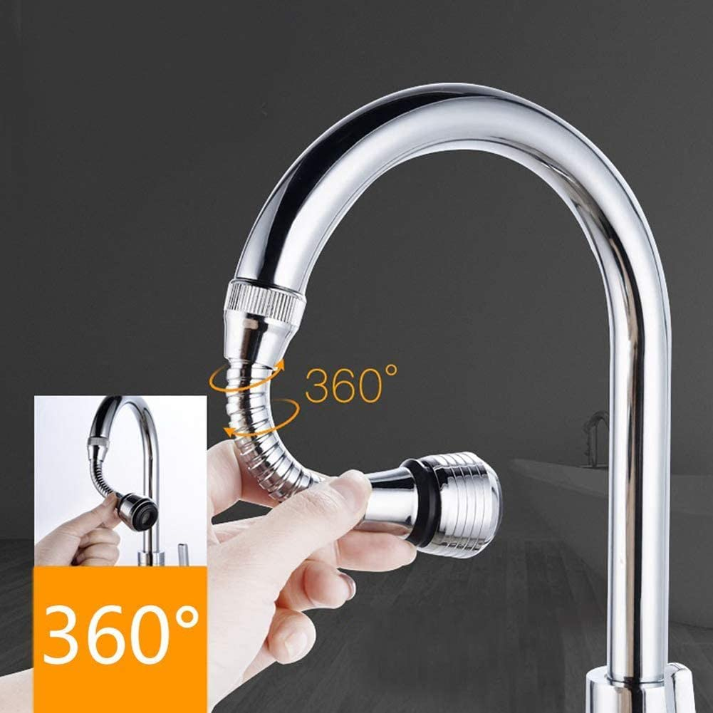 Flexible Faucet Sprayer Thread Interface for Bathroom Kitchen Tap Nozzle Filter Adapter Kitchen Tap Extension Universal Faucet Extension Kitchen Faucet Extender