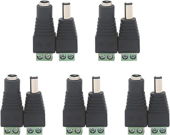 Vce 5 Paare Dc 5 5 Mm 2 1 Mm Dc Stecker Dc Buchse Computer Zubehör