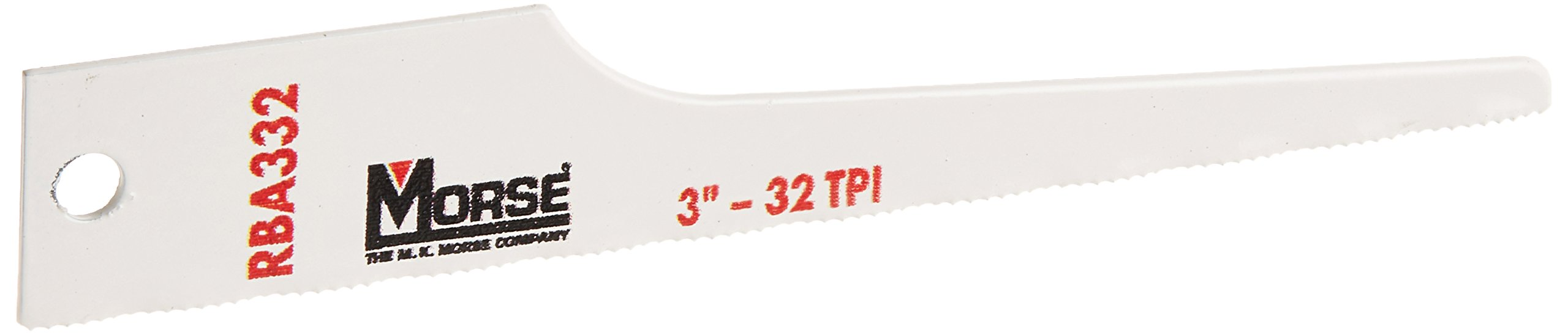 MK Morse RBA332T25 32 TPI Air Saw Blade (25 Pack), 3'' Length, 1/2'' Width, 0.025 Thickness by MK Morse