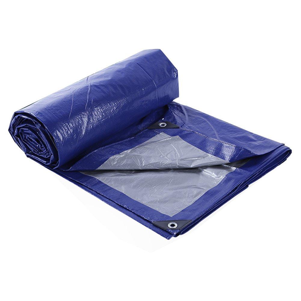 PENGFEI オーニング トラック用防水シート 防水 シェード 防風 品 保護 防塵の 耐摩耗性 抗酸化、 ブルー+シルバー、 厚さ0.23MM、 105g / m 2、 9サイズのオプション ( 色 : 青 , サイズ さいず : 6X8M ) B07BNMLKTM 6X8M|青 青 6X8M