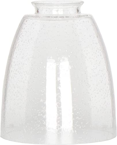 Clear Bubble Glass Shade, XIDING Oval Cone Seeded Glass Shade Replacement, Classic Style Highly Transparent Pendant Lamp Shades Accessory Shade