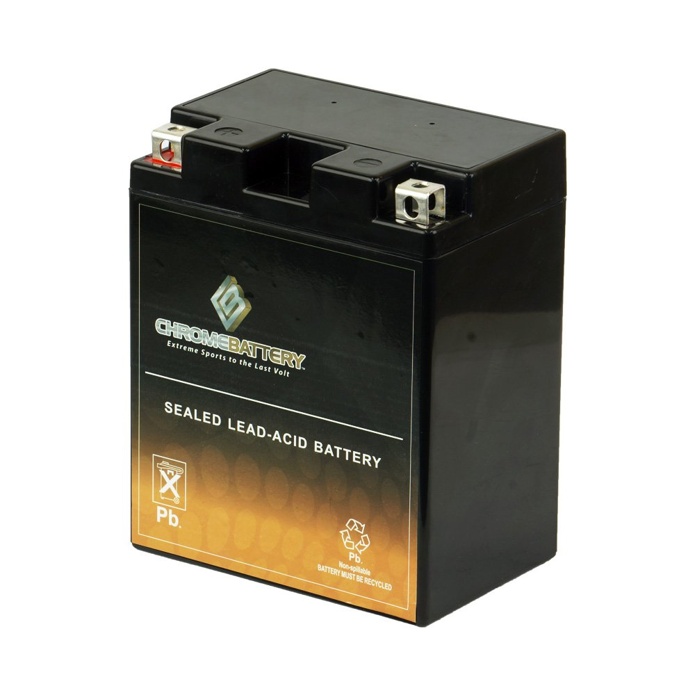 YB14A-A2 12V 190CCA AGM Replacement Battery Chrome Battery