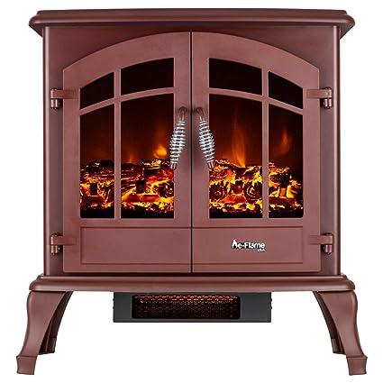 Amazon Com E Flame Usa Jasper Electric Fireplace Stove Rustic Red
