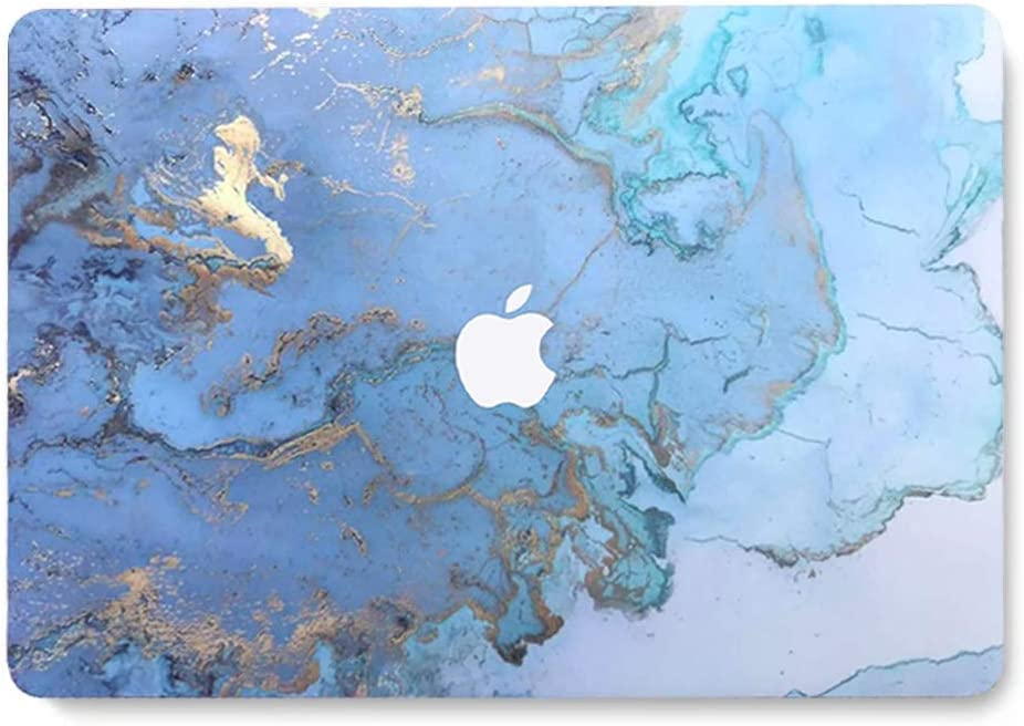 MacBook Pro 13'' Laptop Case for Old MacBook Pro 13'' (CD Drive) Plastic Case Hard Shell Cover A1278 - Colored Blue Marble LDL41