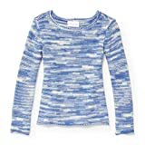 The Children's Place Big Girls' Solid Knit Sweater, Party Blue 5494, XL (14)