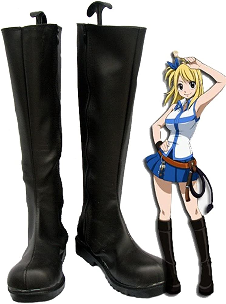 Telacos Fairy Tail Lucy Cosplay Shoes Boots Custom Made
