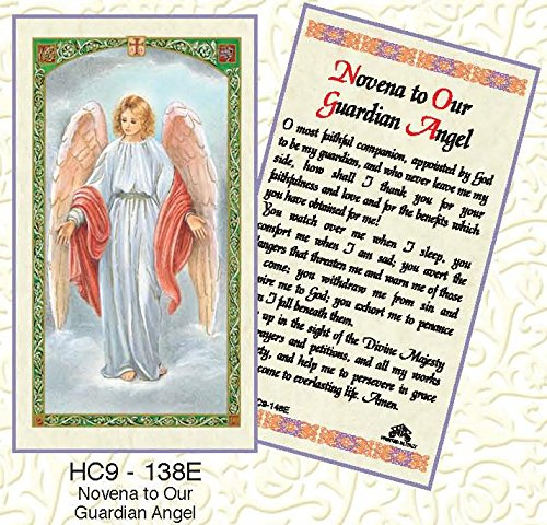 Guardian Angel Novena Laminated Prayer Cards - Pack of 25 - HC9-138E